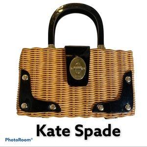 Kate Spade s wicker picnic basket purse handbag